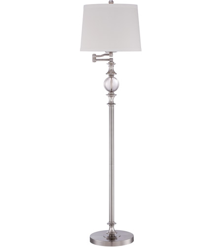 Quoizel Q1633FBN Signature 60 inch 100 watt Brushed Nickel Floor Lamp Portable Light photo