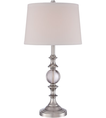Quoizel Q1634TBN Signature 30 Inch 150 Watt Brushed Nickel Table Lamp  Portable Light