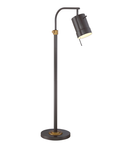 signature 57 inch 100 watt western bronze floor lamp portable light. Black Bedroom Furniture Sets. Home Design Ideas