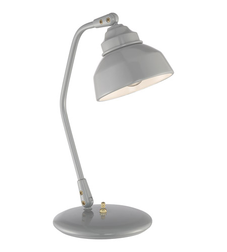 Quoizel q2311t signature 12 inch 60 watt gray table lamp for 12 inch table lamps