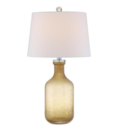 Quoizel Q2317T Signature 26 Inch 100 Watt Amber Table Lamp Portable Light