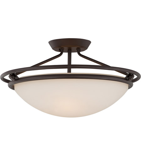 Quoizel QF1202SWT Signature 3 Light 20 inch Western Bronze Semi-Flush Mount Ceiling Light photo