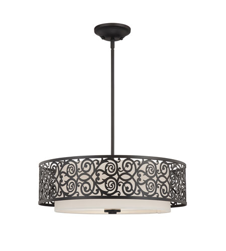 Quoizel Lighting Signature 3 Light Pendant in Imperial Bronze QF1208CIB photo