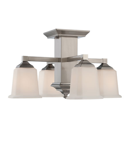Quoizel QF1213SBN Signature 4 Light 19 inch Brushed Nickel Semi-Flush Mount Ceiling Light photo