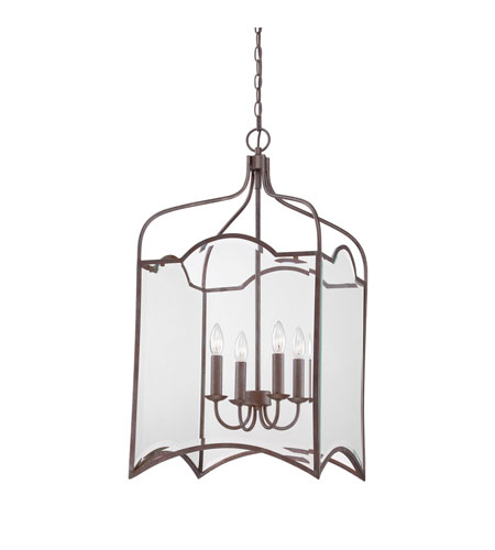 Quoizel Lighting Signature 4 Light Chandelier in Copper Rustic Antique QF1403CRA photo