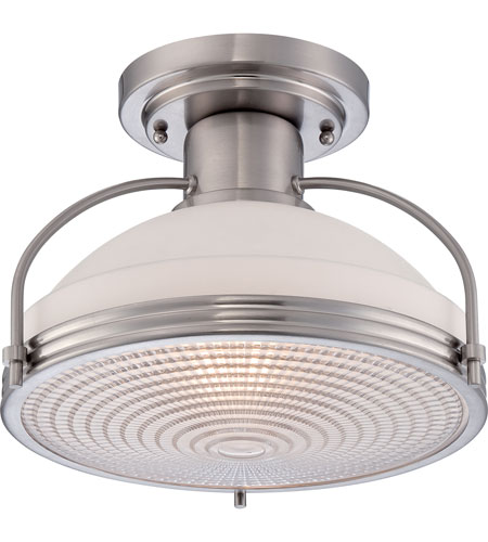 Quoizel QF1678BN Signature 1 Light 14 inch Brushed Nickel Semi-Flush Mount Ceiling Light photo