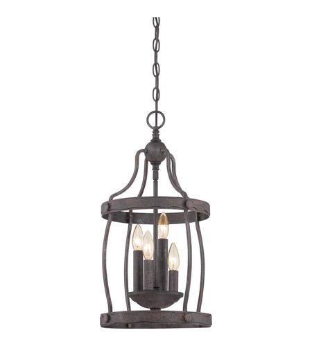 Rustic Foyer Chandelier : Quoizel qf rk signature light inch rustic black