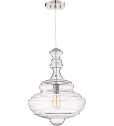 Quoizel qf2046c morocco 1 light 16 inch polished chrome pendant ceiling light in a19 medium base
