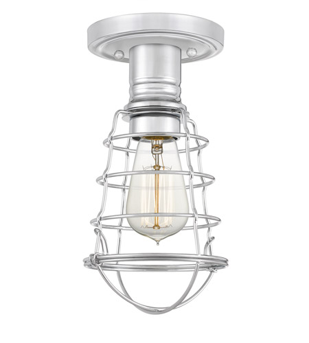 Quoizel QF5118C Mixon 1 Light 6 inch Polished Chrome Semi-Flush Mount Ceiling Light photo thumbnail
