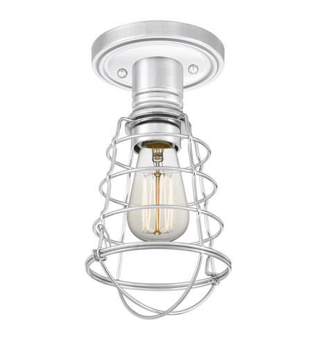 Quoizel QF5118C Mixon 1 Light 6 inch Polished Chrome Semi-Flush Mount Ceiling Light alternative photo thumbnail