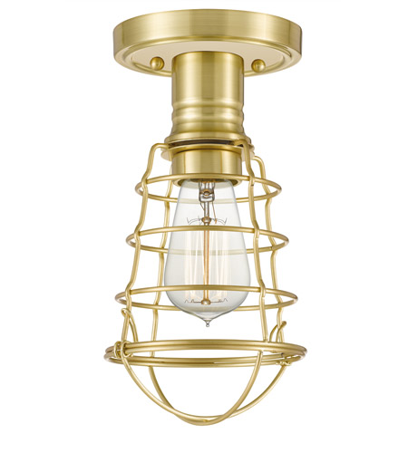 Quoizel QF5118Y Mixon 1 Light 6 inch Satin Brass Semi-Flush Mount Ceiling Light photo