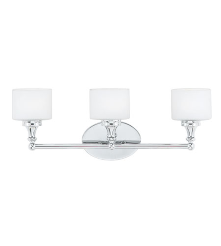 Quoizel quinton 3 light bath light in polished chrome qi8603c for Z gallerie bathroom lights