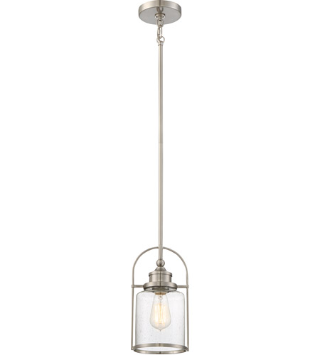 Quoizel QPP2781BN Piccolo 1 Light 7 inch Brushed Nickel Mini Pendant Ceiling Light, Rod Hung photo