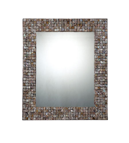 Quoizel Lighting Signature Mirror in Pen Shell Mosaic QR1252 photo