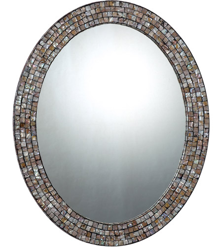 Quoizel Lighting Signature Mirror in Pen Shell Mosaic QR1253 photo