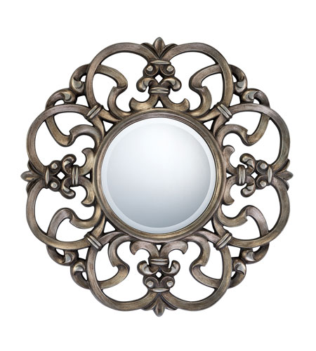 Quoizel Lighting Signature Mirror in Burnt Silver QR979 photo