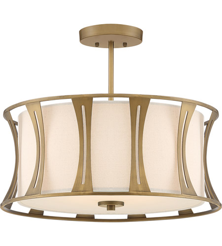 Quoizel Qsf5187ey Woodmere 4 Light 20 Inch Egyptian Gold Semi Flush Mount Ceiling Light