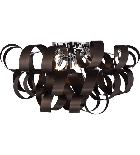 Quoizel RBN1628WT Ribbons 6 Light 28 Inch Western Bronze