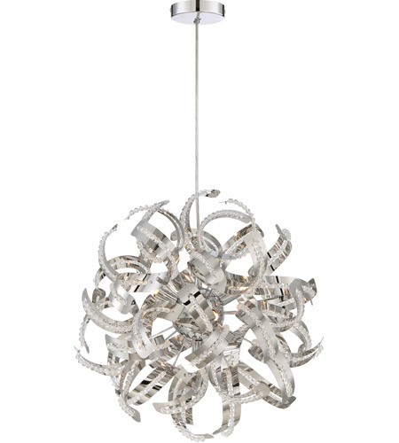 Quoizel rbn2817crc ribbons 5 light 17 inch crystal chrome pendant quoizel rbn2817crc ribbons 5 light 17 inch crystal chrome pendant ceiling light photo aloadofball Choice Image