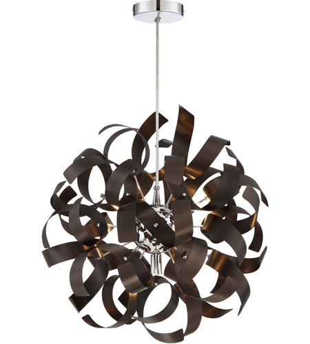 Quoizel rbn2817wt ribbons 5 light 17 inch western bronze pendant quoizel rbn2817wt ribbons 5 light 17 inch western bronze pendant ceiling light aloadofball Image collections