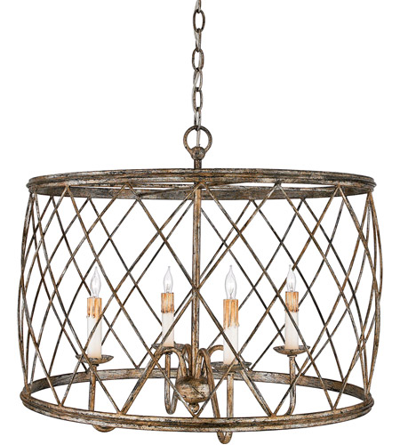 Quoizel RDY2823CS Dury 4 Light 23 inch Century Silver Leaf Pendant Ceiling Light photo