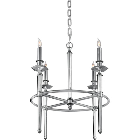 Quoizel Lighting Favray 4 Light Chandelier in Heritage Silver Plate RFV5004HP photo