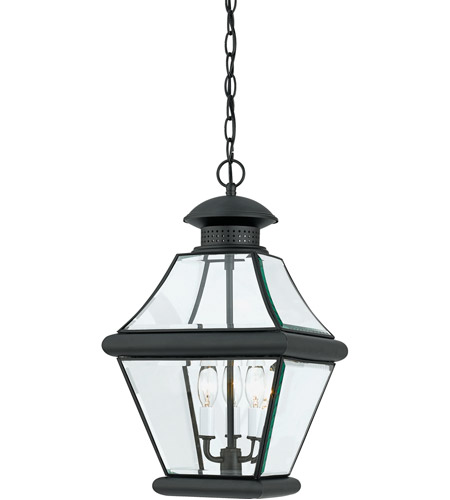 Quoizel RJ1911K Rutledge 3 Light 11 inch Mystic Black Outdoor Hanging Lantern photo