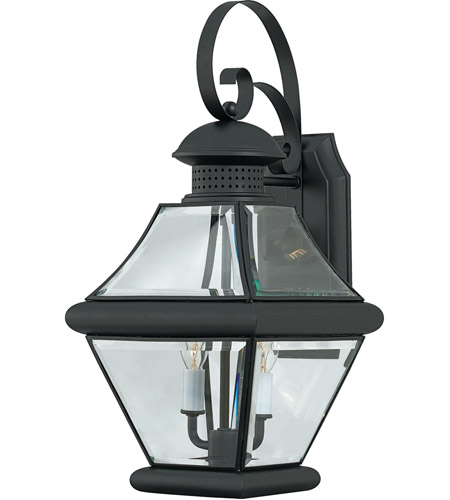 Quoizel RJ8409K Rutledge 2 Light 19 inch Mystic Black Outdoor Wall Lantern photo