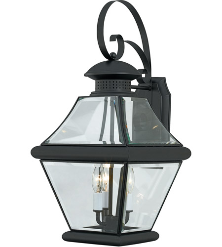 Quoizel RJ8411K Rutledge 3 Light 24 inch Mystic Black Outdoor Wall Lantern photo