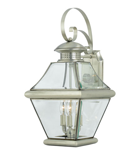 Quoizel Lighting Rutledge 3 Light Outdoor Wall Lantern in Pewter RJ8411P photo