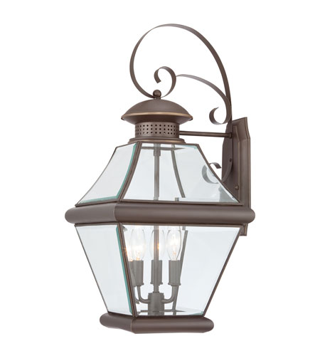 Quoizel Lighting Rutledge 3 Light Outdoor Wall Lantern in Medici Bronze RJ8411Z photo