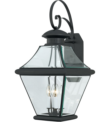 Quoizel RJ8414K Rutledge 4 Light 29 inch Mystic Black Outdoor Wall Lantern  photo