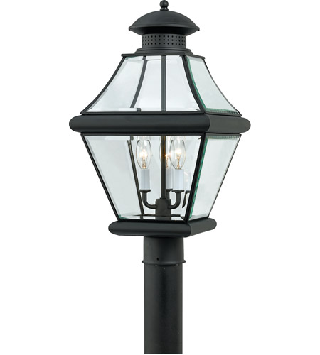 Quoizel Lighting Rutledge 3 Light Outdoor Post Lantern in Mystic Black RJ9011K photo