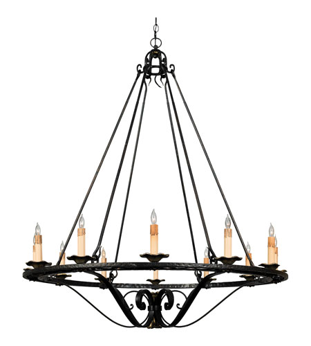 Quoizel Lighting Messina 12 Light Chandelier in Serengeti Black And Mayan Gold Leaf RME5512SM photo
