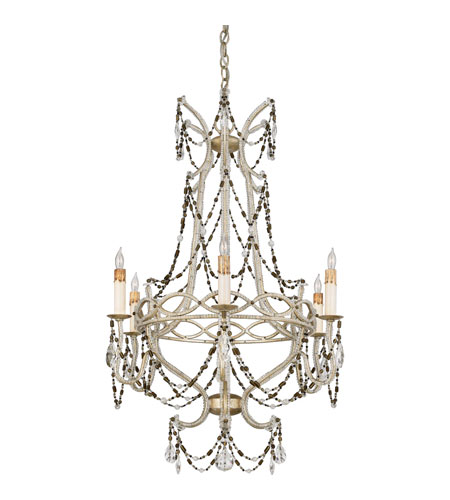 Quoizel Lighting Marseille 6 Light Chandelier in Antique Silver Leaf RMS5006AH photo