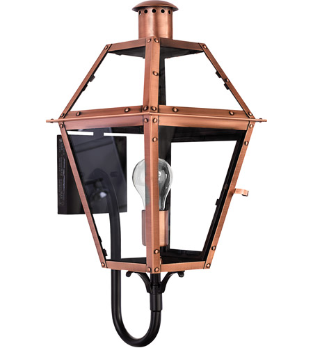 Quoizel Lighting Rue De Royal 1 Light Outdoor Wall Lantern in Aged Copper RO8410AC photo