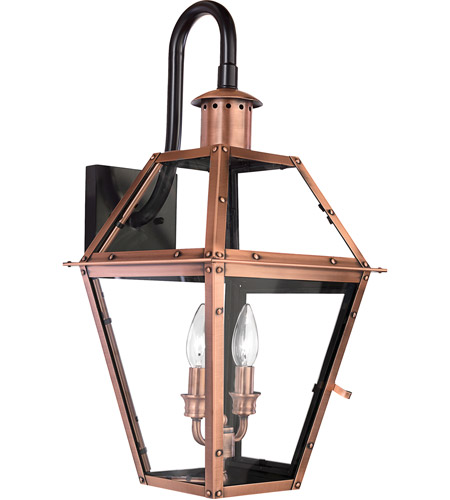 Quoizel RO8411AC Rue De Royal 2 Light 22 inch Aged Copper Outdoor Wall Lantern photo