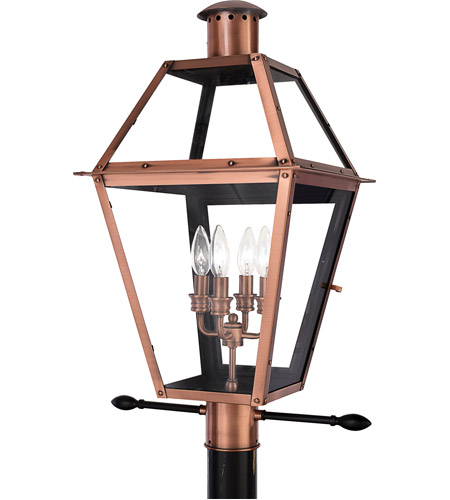 Quoizel RO9014AC Rue De Royal 4 Light 26 inch Aged Copper Outdoor Post Lantern photo