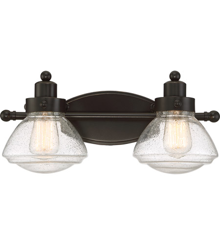 Quoizel sch8602pn scholar 2 light 18 inch palladian bronze for Z gallerie bathroom lights