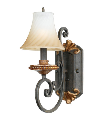 Quoizel serafina bath fixture 1 light in monarch sf8601mh for Z gallerie bathroom lights