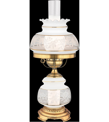 Quoizel SL701G Satin Lace 20 inch 150 watt Gold Polished Flem Table Lamp Portable Light photo