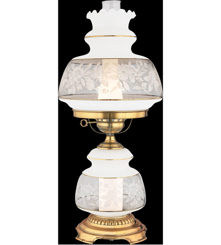 Quoizel Lighting Satin Lace 1 Light Table Lamp in Gold Polished Flem SL702G photo