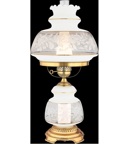 Quoizel SL703G Satin Lace 28 inch 150 watt Gold Polished Flem Table Lamp Portable Light  photo