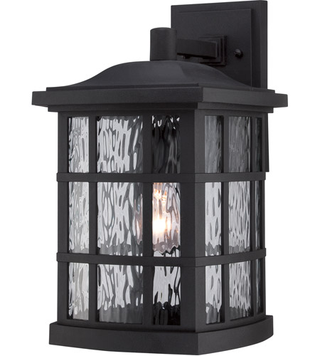 Quoizel SNN8409K Stonington 1 Light 16 inch Mystic Black Outdoor Wall in A19 Medium Base photo