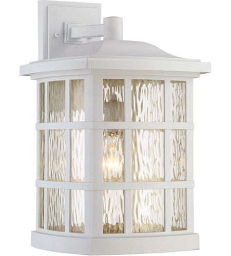 Quoizel SNN8411W Stonington 1 Light 17 inch Fresco Outdoor Wall Lantern in Incandescent photo