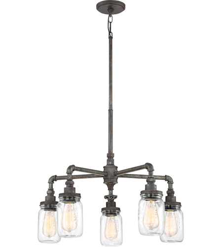Quoizel SQR5005RK Squire 5 Light 26 inch Rustic Black Chandelier Ceiling Light photo