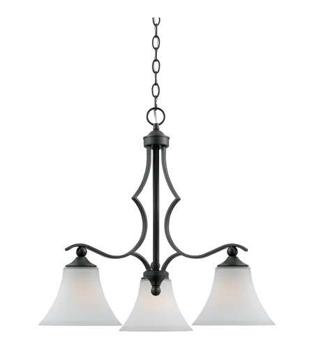 Quoizel Lighting Sarah 3 Light Chandelier in Iron Gate SR5103IN photo