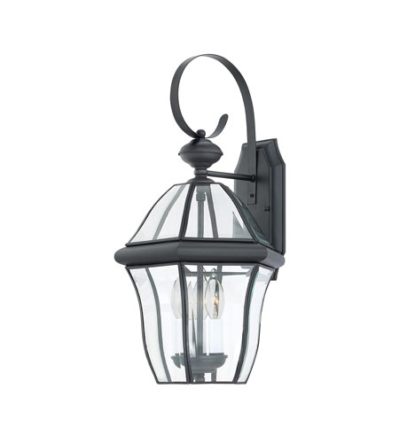 Quoizel Lighting Sussex 3 Light Outdoor Wall Lantern in Mystic Black SX8411K photo