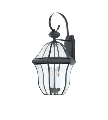 Quoizel Lighting Sussex 3 Light Outdoor Wall Lantern in Mystic Black SX8413K photo