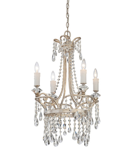 Quoizel Tricia 4 Light Chandelier in Vintage Silver TCA5004VP photo